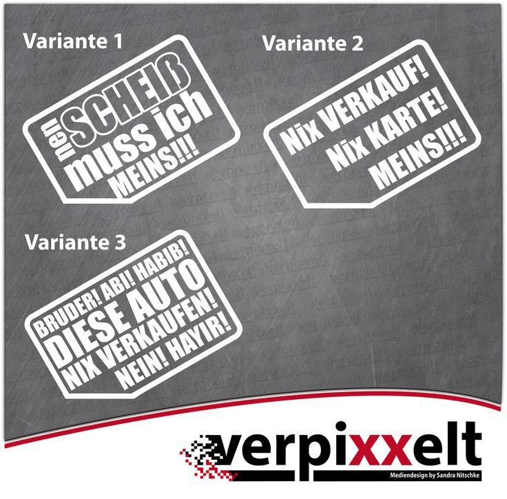 "Aufkleber 2-er Set ""Nix Verkauf"" Sticker Decal JDM OEM in Auto & Motorrad: Teile, Auto-Tuning & -Styling, Karosserie & Exterieur Styling   eBay!"