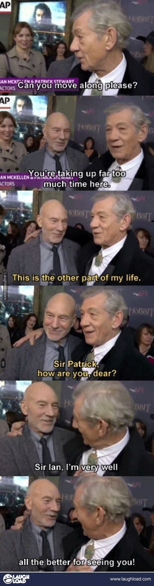 Sir Ian McKellen and Sir Patrick Stewart | I just love how close these two are. <3