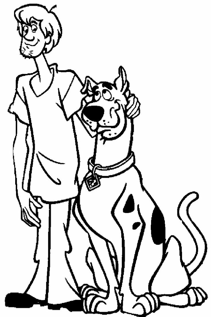 scooby doo valentine coloring pages - photo#15