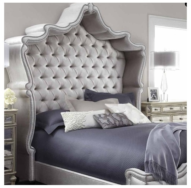 haute house antoinette bed exclusively ourswith its shapely tufted headboard echoed in the shape of the footboard this bed brings regal