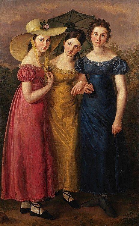 1822 David Sulzer - Portrait of three young girls