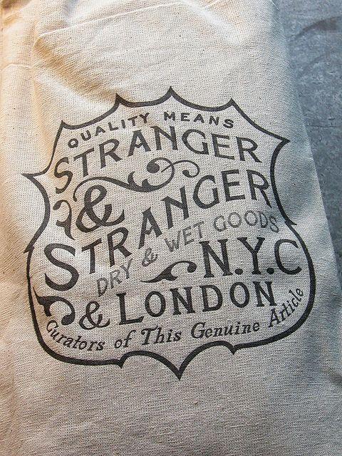 Stranger  Stranger Canvas Bag CU