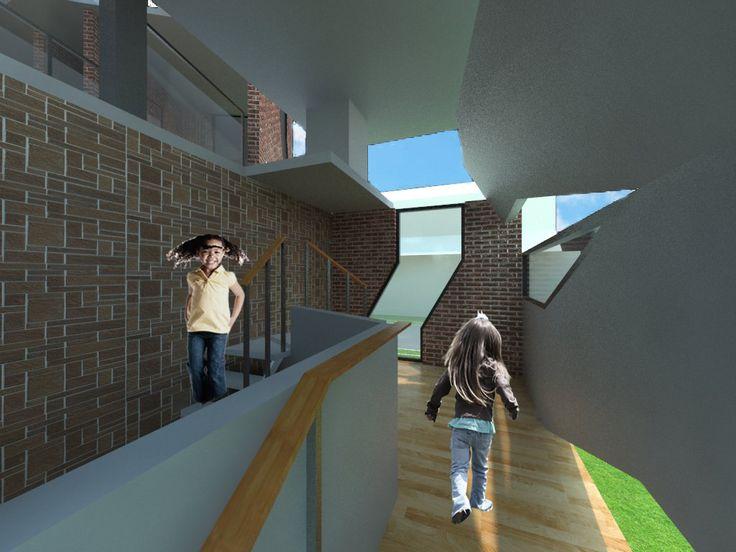interior ruang terapi vray