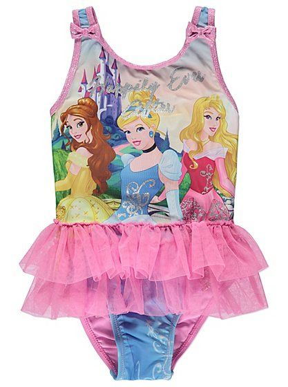 6bc1bfc498b Whether they're splashing about in the pool or dipping their toes into the  sea, this gorgeous Disney Princess swimsuit will make your little one feel  and ...