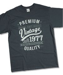 Camiseta 1977 Vintage Year – Aged to Perfection