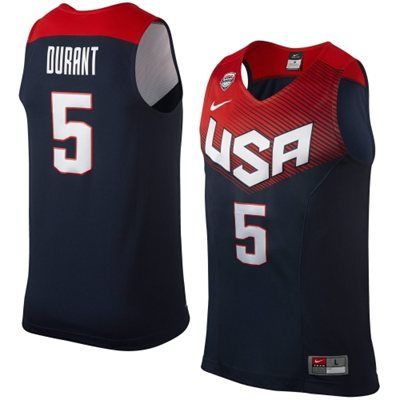 Kevin Durant Team USA Basketball Nike 2014 Jersey - Navy ...