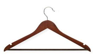 Honey-Can-Do HNG-01335 Wood Hangers with Non-slip Grooved Bar, 24-Pack, Cherry by Honey-Can-Do. $22.99. Grooved bar- used to hang dresses, blouses, etc. Attractive cherry finish. Sturdy wood construction- built to hold all shapes and styles of jackets, coats, shirts, etc.. Home organization made easy!. Sturdy wood construction to avoid creases and wrinkles. From the Manufacturer                Honey Can Do HNG-01335 Wood Hangers with Non-slip PVC, 24-pack, Cherry...
