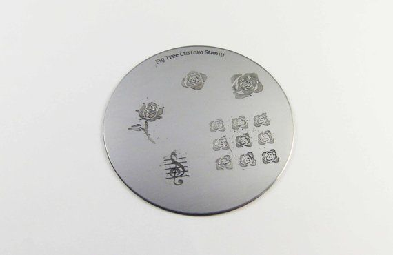 Personalised Nail Art Stamp Plates Custom by FigTreeJewellery, £16.00 ($26.69 USD)