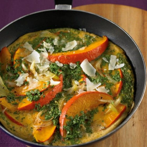 Kürbis-Omelett