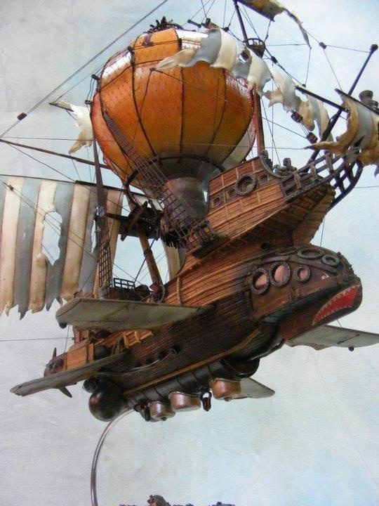 Multiverse 15: Steampunk flying ship  from Zvezda