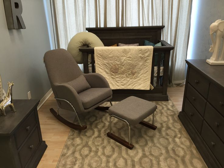 Our Jackson Rocker And Matching Ottoman On Display At Baby Land Vaughan Ontario