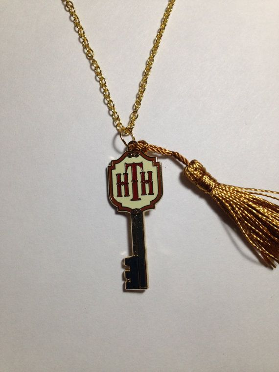 Tower of Terror Hotel Key Necklace Up-Cycled Disney Trading PINdant by BijouxetSoirees Disneybound Jewelry