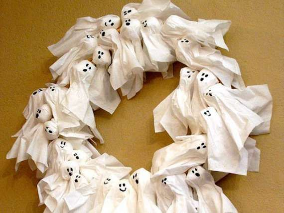 Protect Your House with Homemade Charmed Ghost Wreaths trendhunter.com