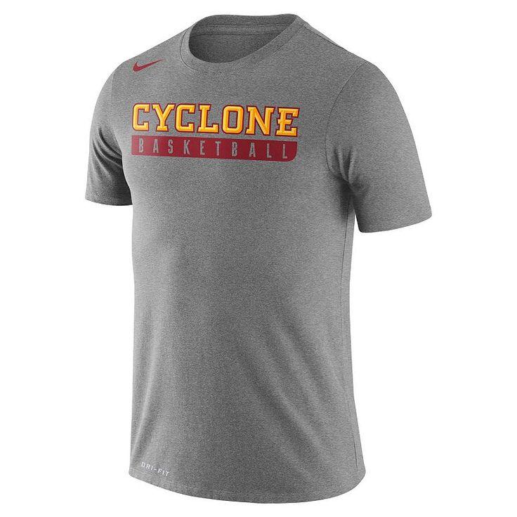 Men's Nike Iowa State Cyclones Basketball Practice Dri-FIT Tee, Dark Grey
