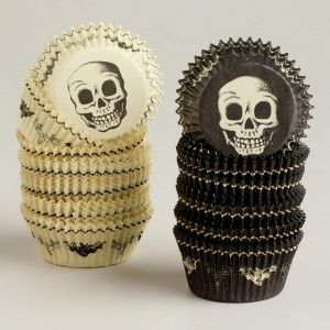 Skull Cupcake Liner | Halloween Decoration