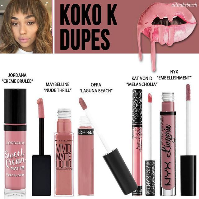 "The last dupe post is here! Kylie Cosmetics Lipkit in ""Koko K""  More details"