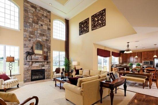 K. Hovnanian Model Homes Interiors | Thumbnail | 2 Story Family Room |  Pinterest | Models, Interiors And Living Room Ideas