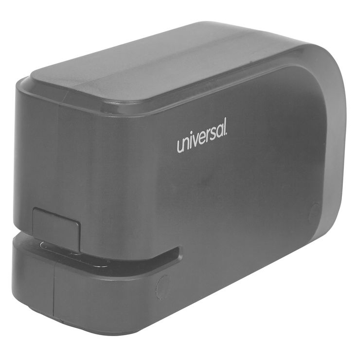 Universal Electric Half-Strip Stapler with Staple Channel Release, 20-Sheet Capacity, Black