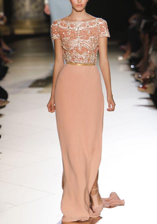 57 best blush wedding inspiration images on pinterest for Elie saab blush wedding dress