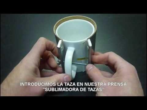 SUBLIMADORA DE TAZAS MANUAL! SIN MAQUINAS COSTOSAS! - YouTube