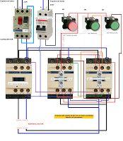 Esquemas eléctricos: ARRANQUE TRIFASICO CORTE CON INTERRUPTOR