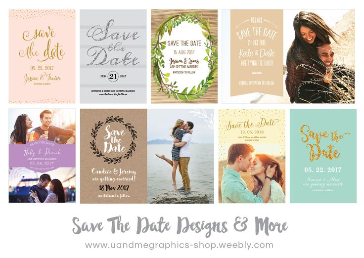 Printable Save The Date Card Designs / Cape Town