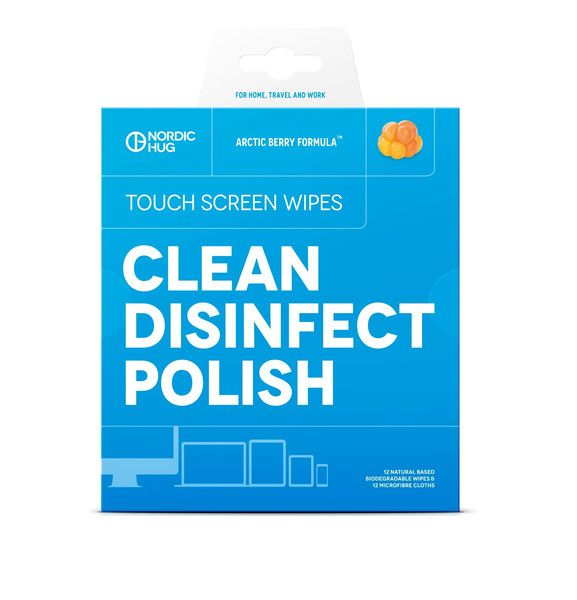 Nordic Hug Touch Screen Wipes Clean, Disinfect & Polish!  Keep your devices like new!