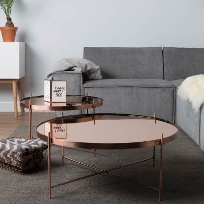Copper Round Coffee Table #4livinguk