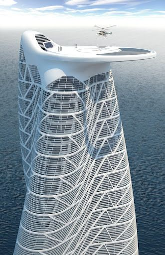 Rooftop helipad for a proposed residential tower in UAE #architecture ☮k☮