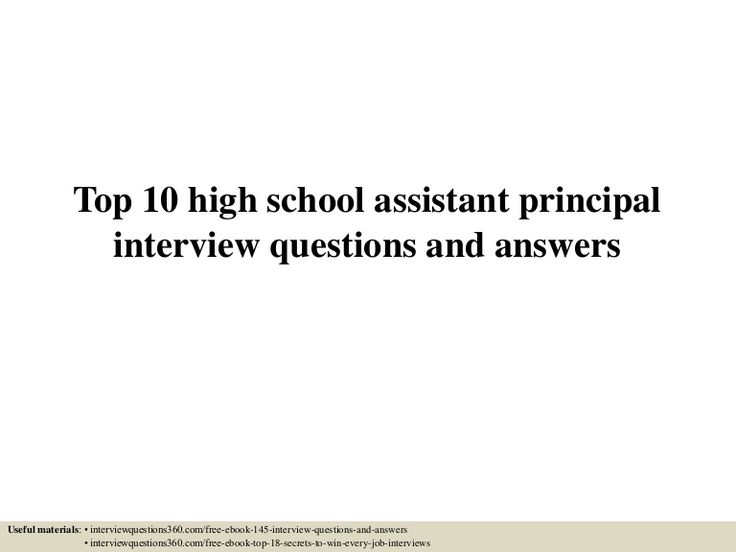 The 25+ best High school principal ideas on Pinterest Middle - assistant principal interview questions
