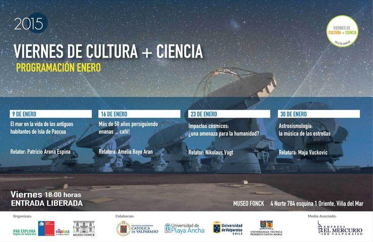 Programación enero 2015 de Viernes de Cultura + Ciencia @museofonck