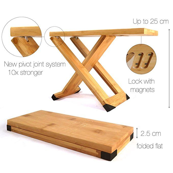 Fox Fern Guitar Foot Stool Professional Bamboo Wood Footrest Magnets To Fix Position Adjustable Footsto Adjustable Footstool Wooden Footstool Footstool