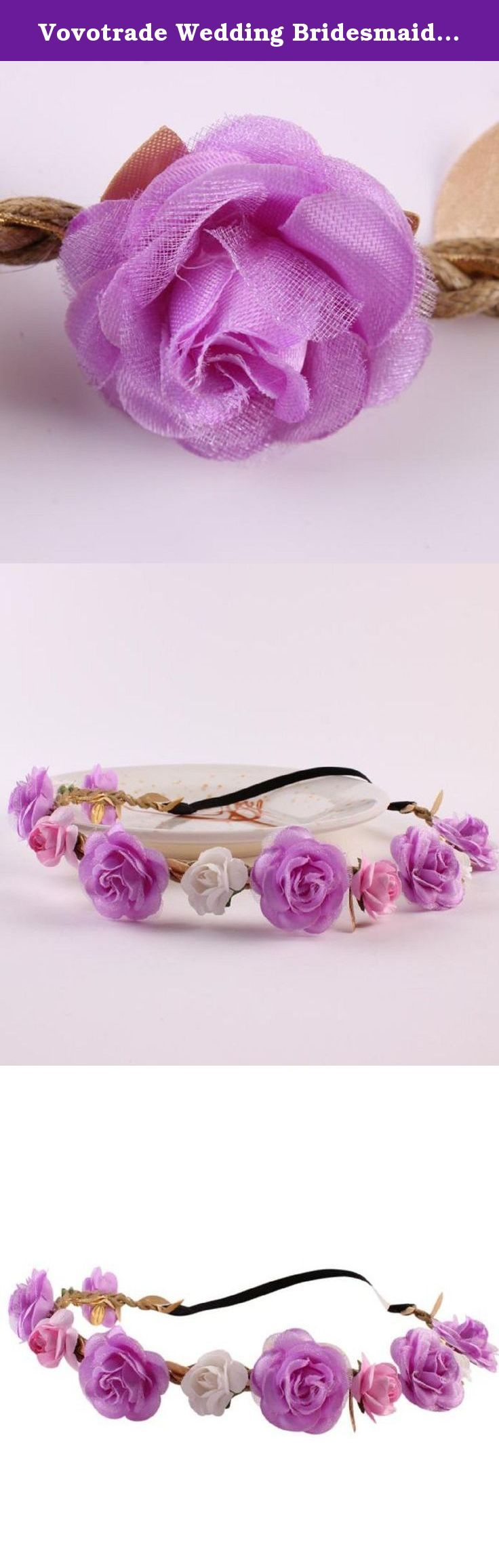 Vovotrade Wedding Bridesmaid Floral Flower Festival Forehead Headband Hair Garland (Purple). Description Quantity:1PC As different computers display colors differently, the color of the actual item may vary slightly from the images. Package 1PC Women Headdress.