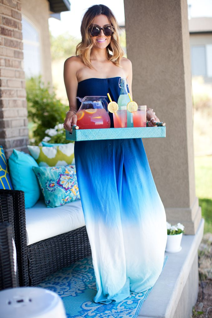 Love the ombré and color. Also love maxi dresses. Would prefer something with straps though instead of tube top.