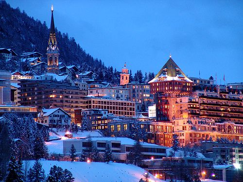 St Moritz, Switzerland.. One of the most magical places, can't wait to go back!