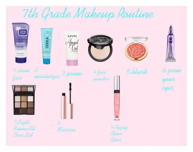 """7th Grade Makeup Routine"" by sweet-cakes101 on Polyvore featuring beauty, Clean & Clear, COOLA Suncare, NYX, Kat Von D, Milani, Too Faced Cosmetics, Trish McEvoy, Victoria's Secret and Urban Decay"