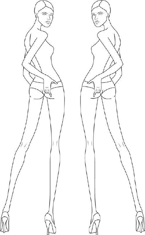 Шаблоны под модные эскизы / Бумага и карандаши (скрапбукинг, оригами, и т.д.)…