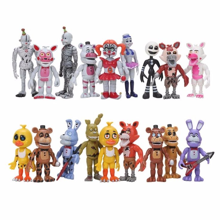 18pcs/set FNAF Five Nights At Freddy's Funtime Baby Pizza World Ballora Foxy Freddy bear Ennard Springtrap Action Figures Toys. Click visit to buy