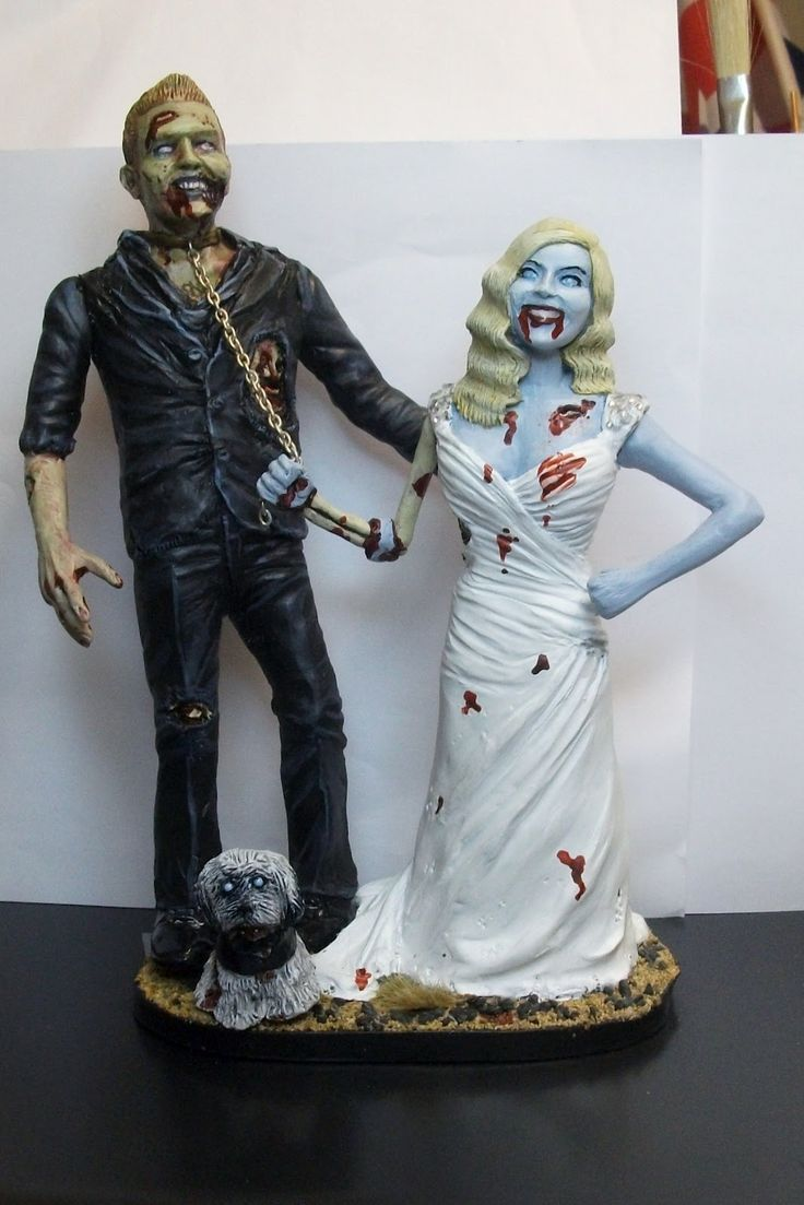 Uniquely Zombie Funny Wedding Cake Toppers