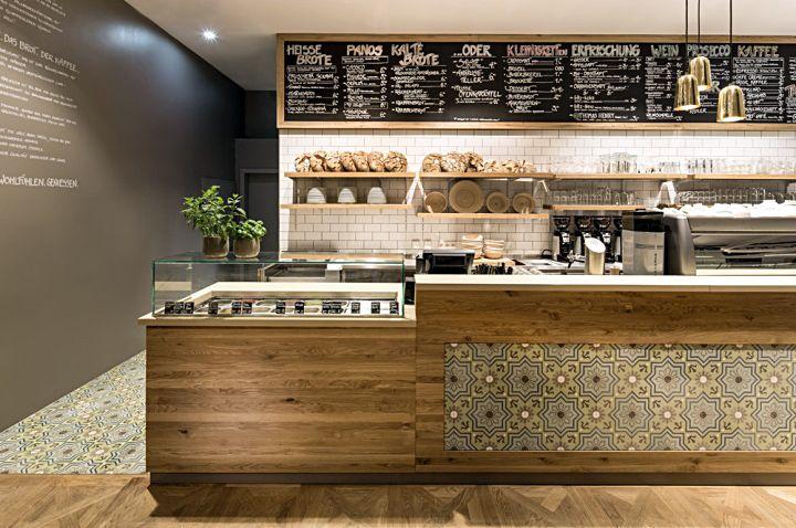 Солидный дизайн немецкого кафе-булочной Pano, Штутгарт
