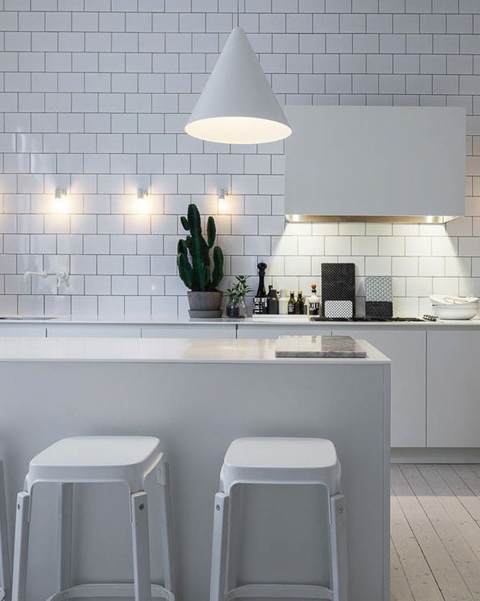 monochrome, Scandinavian, industrial. Lotta Agaton's kitchen