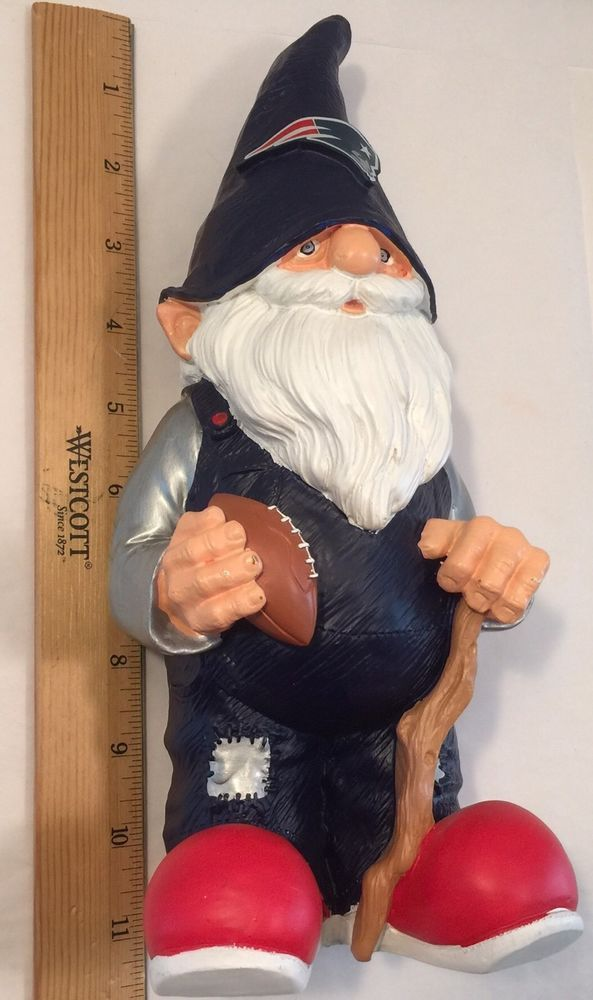 """New England Patriots Team 12"""" Male Resin Gnome Forever Collectibles Mancaveable   eBay"""