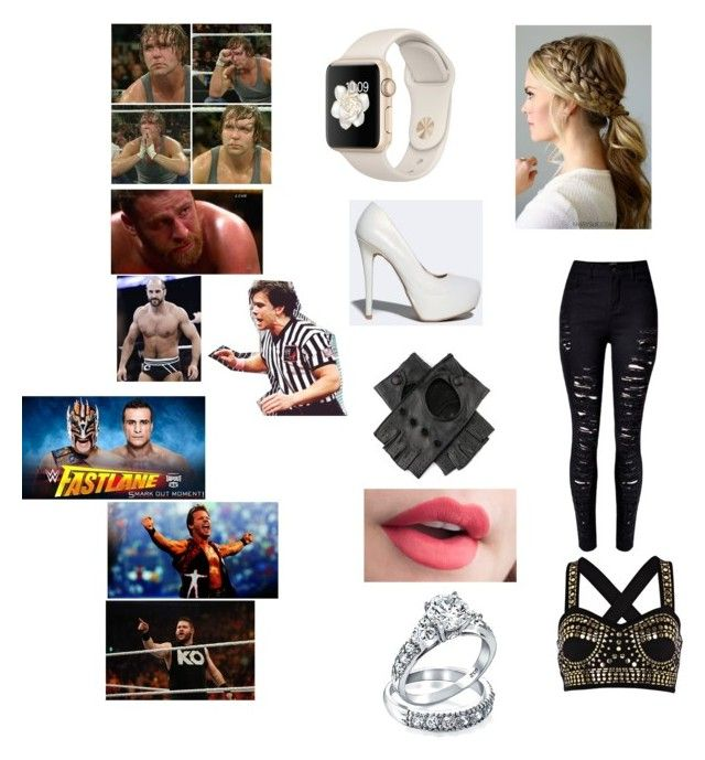 """Comforting My husband Dean, and our friends Sami Zayn, and Cesaro after their devastating lose to Chris Jericho, Kevin Owens, and Alberto Del Rio."" by kaitlyngilmore ❤ liked on Polyvore featuring Qupid, River Island, Bling Jewelry and WWE"