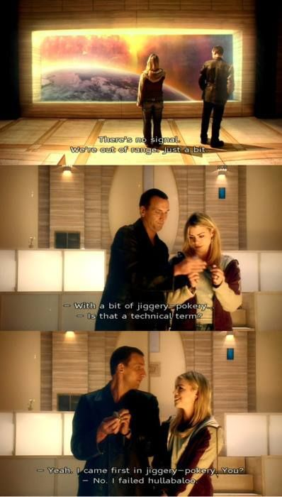 Ya know, just a bit of jiggery-pokery -- The 9th Doctor and Rose