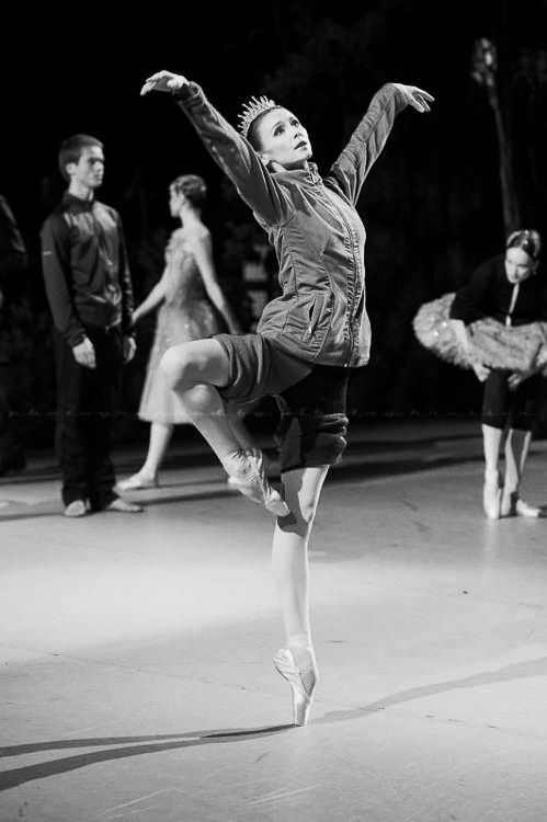 Black and White Ballet Photo
