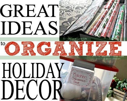 Holiday Decoration Storage Ideas #organization #organize