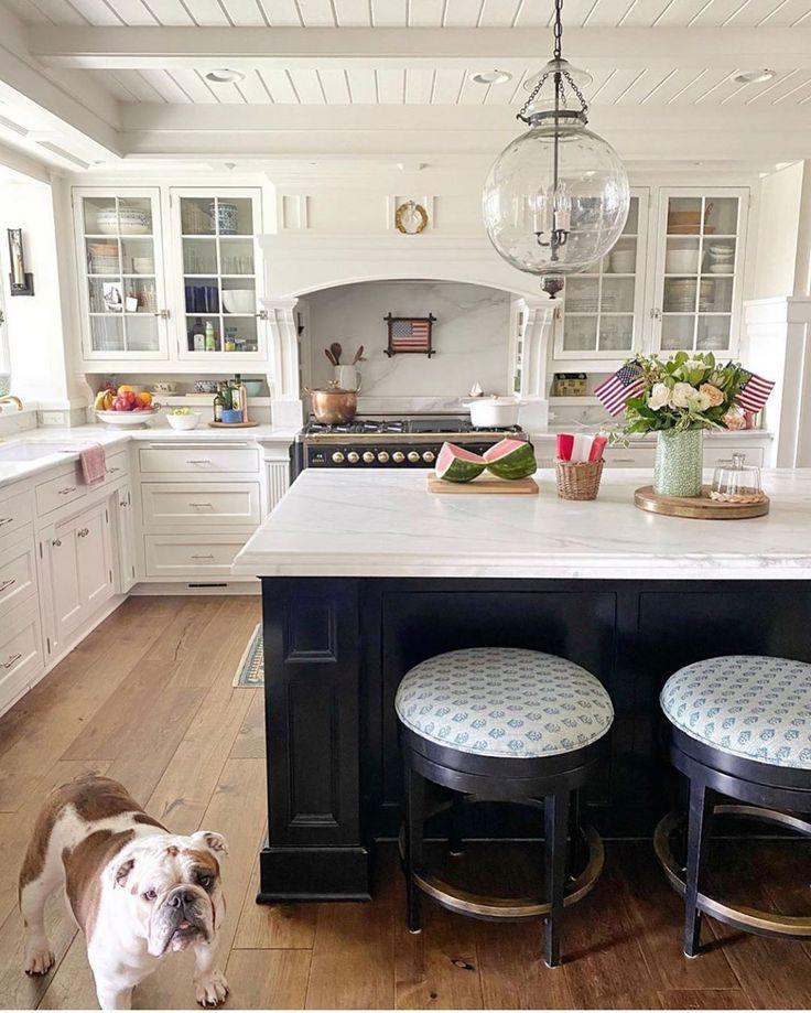 """Peter Dunham Textiles on Instagram """"A big white kitchen"""