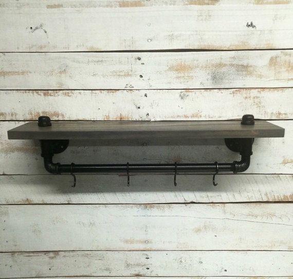pipe shelf pipe shelves industrial shelf от countrycornergoods