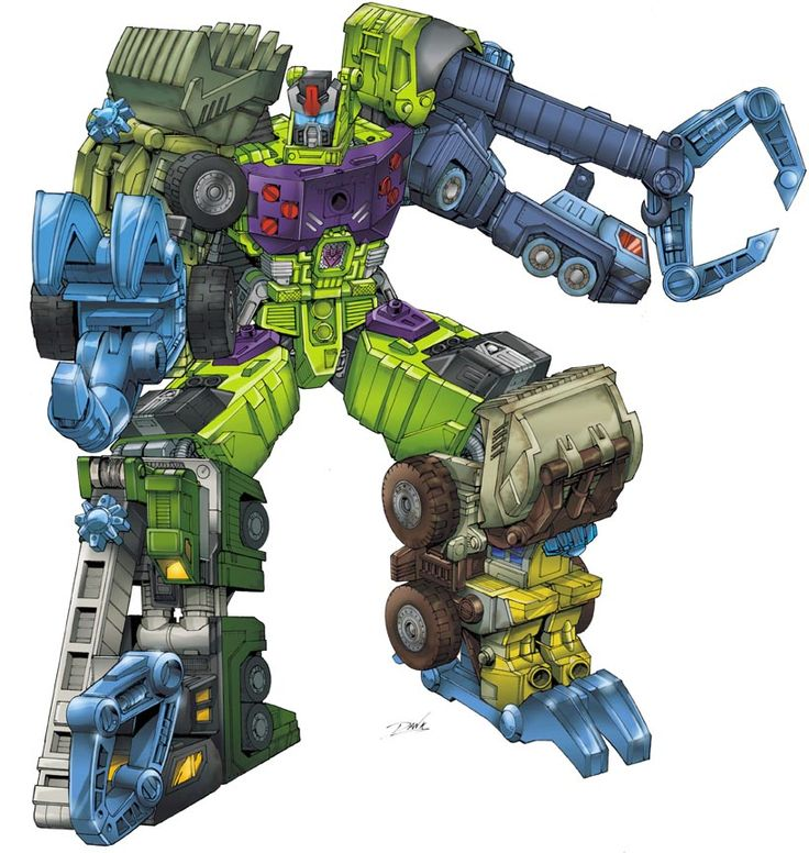 Decepticons Devastator. Have your favourite Transformers drawn in your very own specific scene by published artists. Set up your own commission today through our site. Email us for a quote. nathan@unrealbooks.com