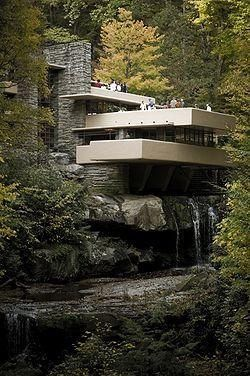 Fallingwater by Frank Lloyd Wright--    I remember reading about this house in Architectual Digest at age 8. I was completely in awe.  I would look through my aunt Sandra's stacks of design magazines over and over again; I would go back to this house every time.